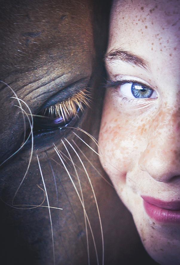 בוק בת מצווה צילום תקריב ילדה וסוס