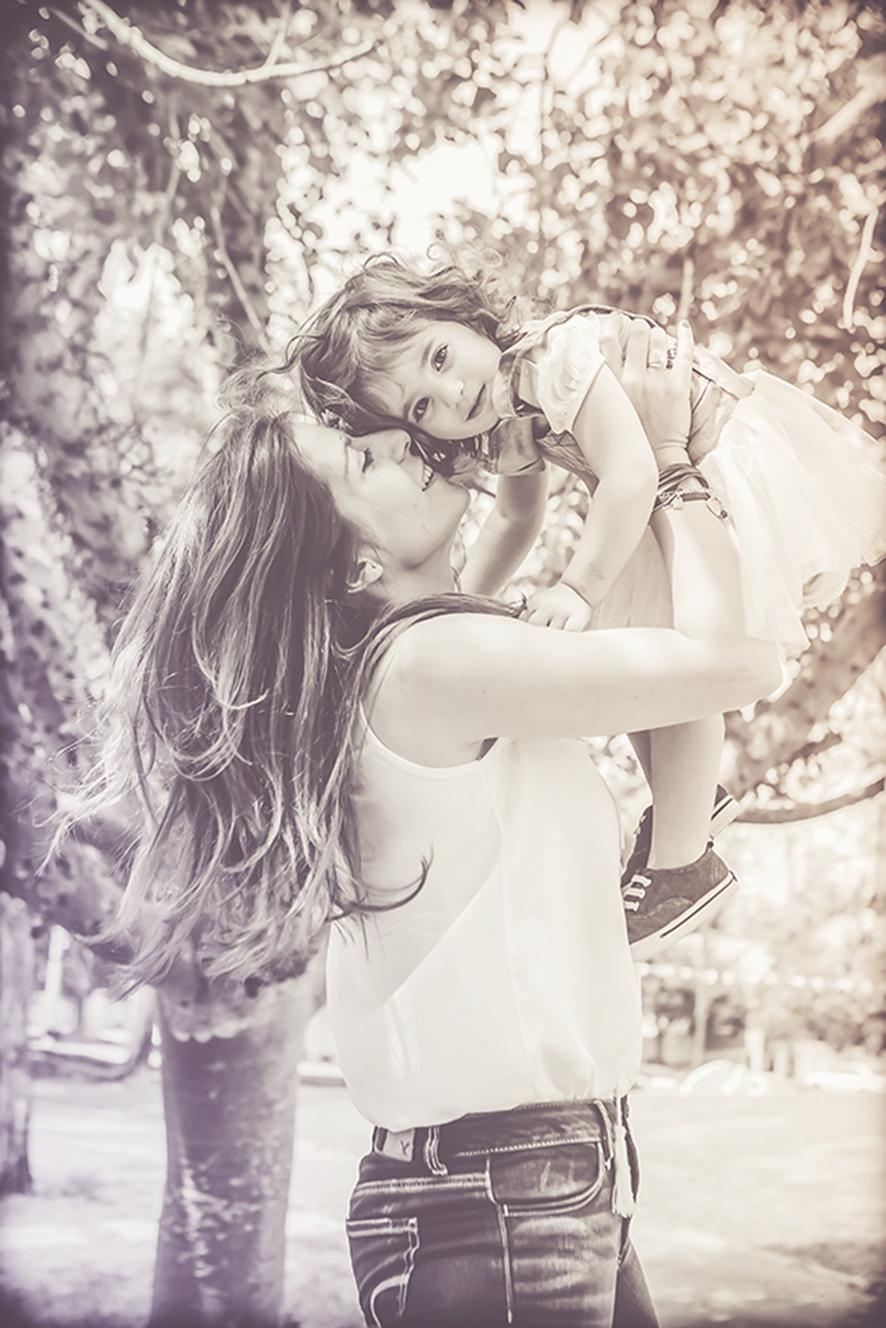 צילומי אמא ובת בטבע עיבוד ספייה