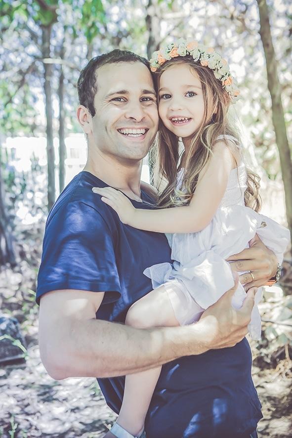 צילום אב ובת כפר מעש