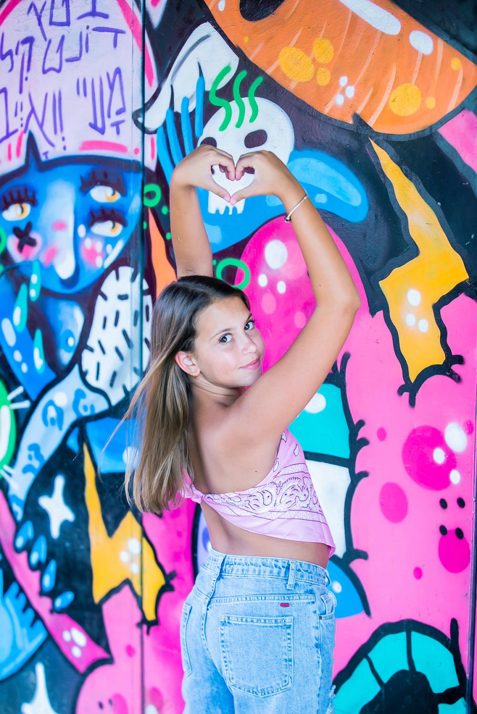בוק בת מצווה קיר גרפיטי תל אביב